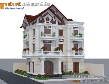 Chia sẻ mẫu nhà 3 tầng mặt tiền 11m