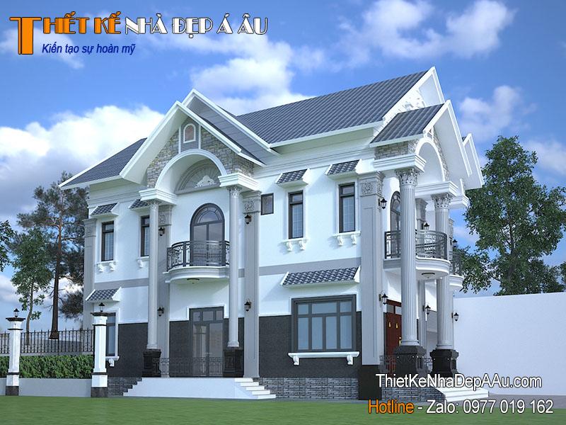 Tư vấn thiết kế mẫu nhà 3 tầng mặt tiền 8m tân cổ điển