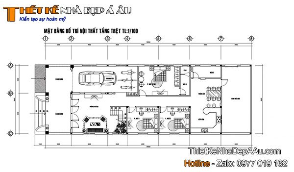 Cách bài trí mặt bằng công năng căn nhà 2 tầng mái thái đẹp