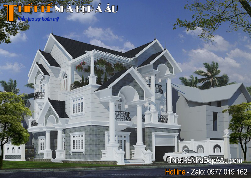Bản vẽ thiết kế nhà 3 tầng mái thái đẹp