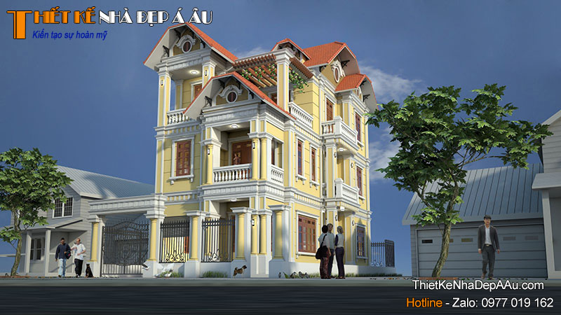 Căn nhà 3 tầng mặt tiền 8m