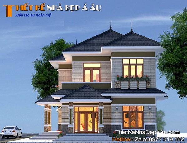 Ngôi nhà 2 tầng đẹp