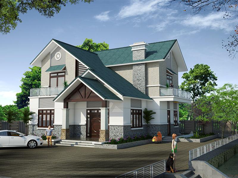 Nhà 2 tầng mặt tiền 12m