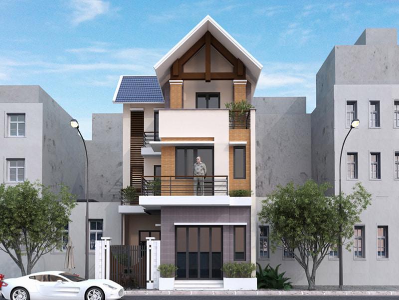 Nhà 3 tầng chữ L mặt tiền 7m