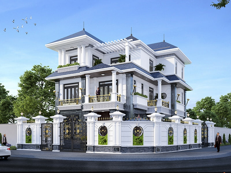 Biệt thự thiết kế nhà đẹp Á Âu