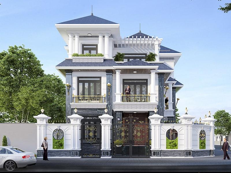 Nhà 3 tầng mái thái mặt tiền 10m