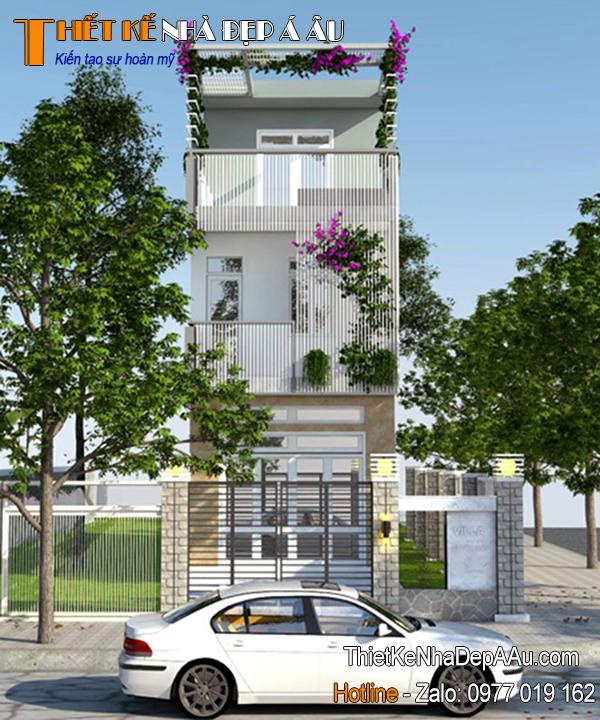 Thiết kế nhà phố 3 tầng hiện đại 4x17m