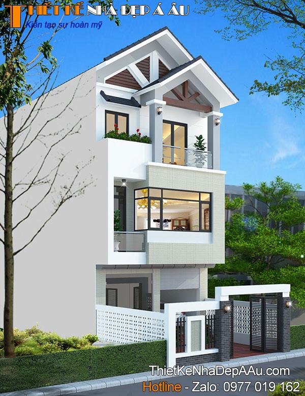 Mẫu thiết kế nhà phố mặt tiền 6m hiện đại