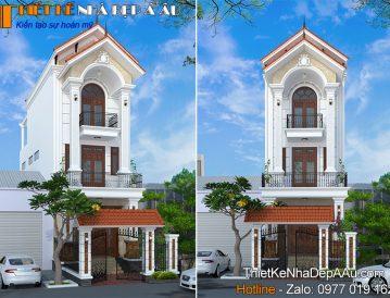 nhà phố 3 tầng mặt tiền 5m mái thái