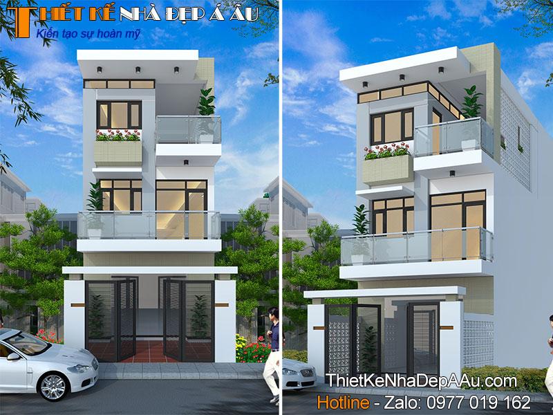 mẫu nhà phố 3 tầng hiện đại mặt tiền 5m