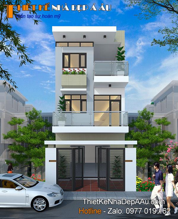 nhà phố 3 tầng hiện đại mặt tiền 5m