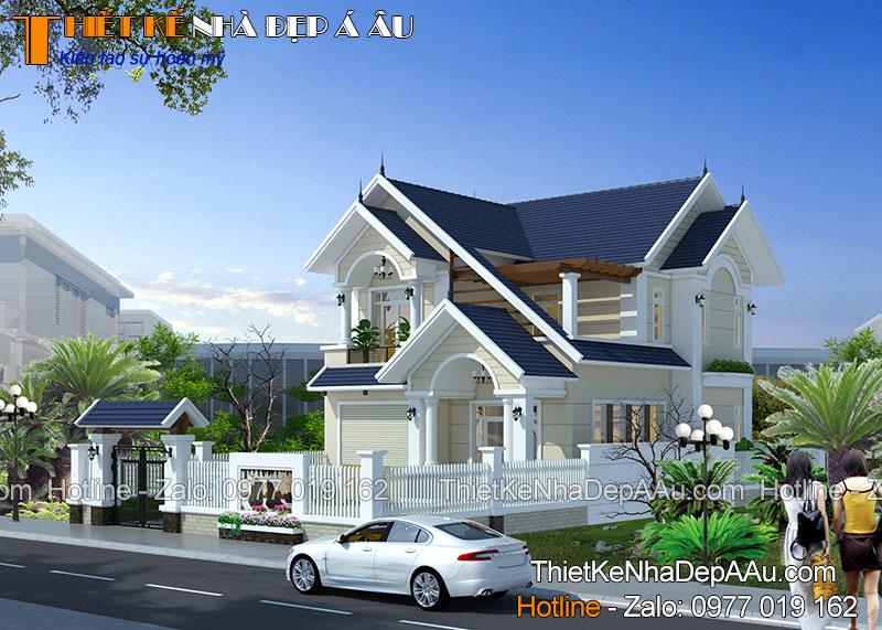 Mẫu nhà mái thái thiết kế nhà đẹp Á Âu