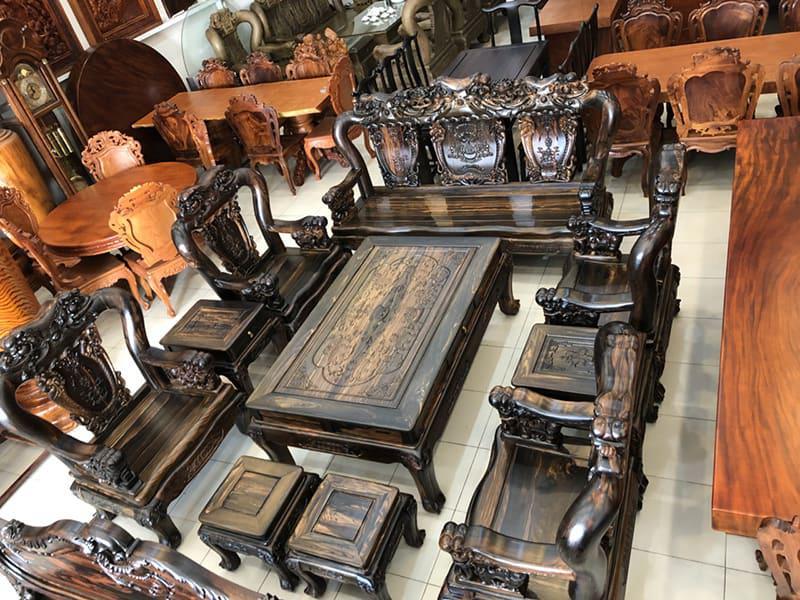 bàn ghế gỗ tân cổ đẹp - mẫu 2
