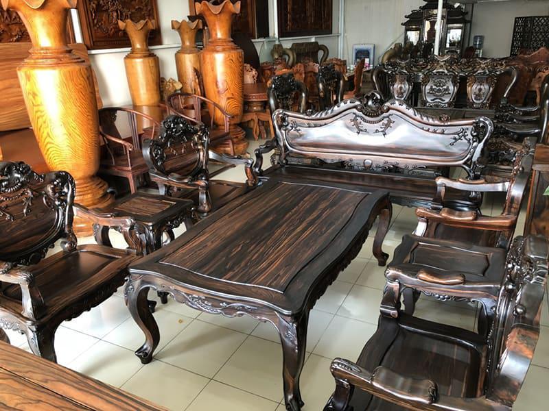 bàn ghế gỗ tân cổ đẹp - mẫu 3