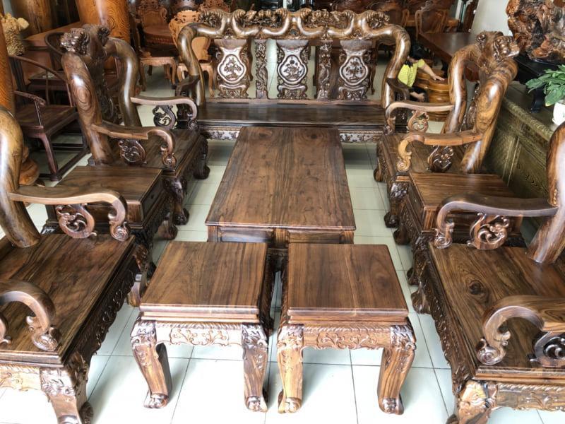 bàn ghế gỗ tân cổ đẹp - mẫu 5