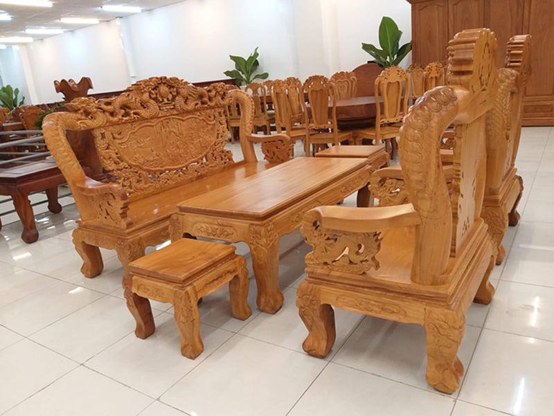 bàn ghế gỗ tân cổ đẹp - mẫu 6
