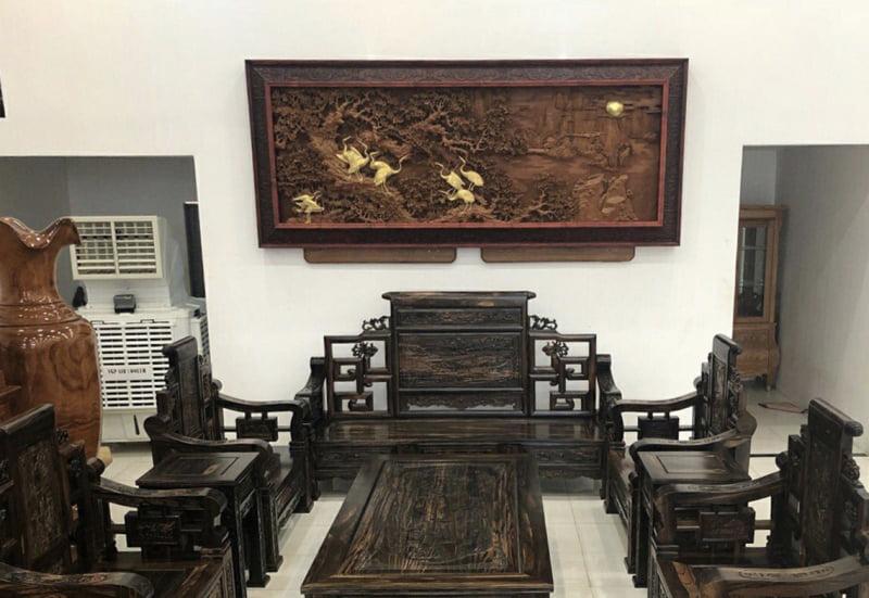 bàn ghế gỗ tân cổ đẹp - mẫu 7