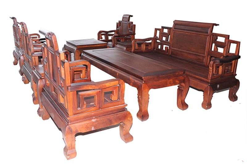 bàn ghế gỗ tân cổ đẹp - mẫu 1