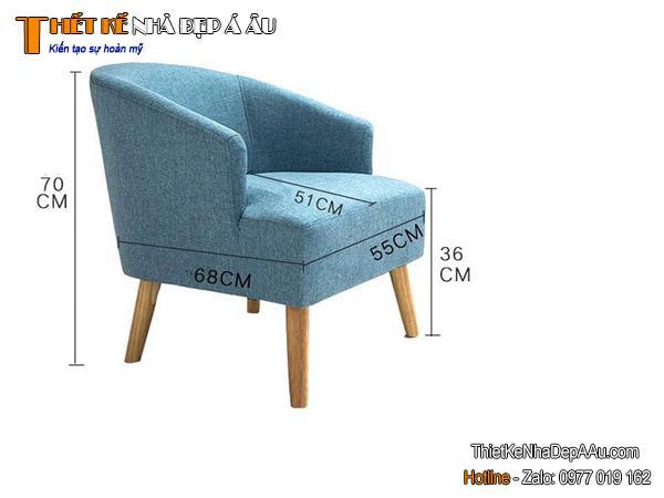 kích thước sofa đơn hiện đại