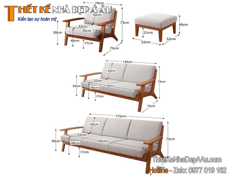 kích thước sofa văng