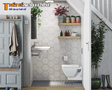 Không gian nhà vệ sinh thoáng mát sạch sẽ