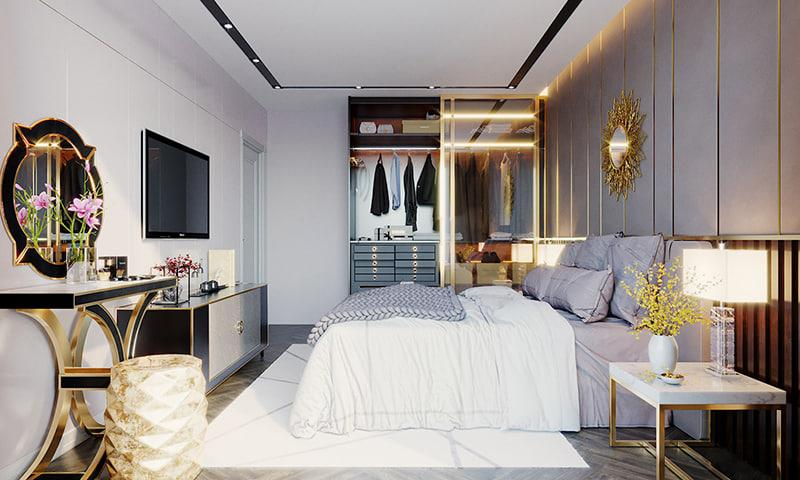 bộ nội thất sử dụng phòng ngủ thiết kế tinh xảo