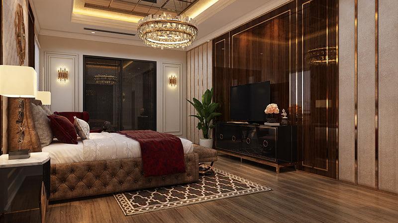 trang trí nội thất phòng ngủ đẳng cấp