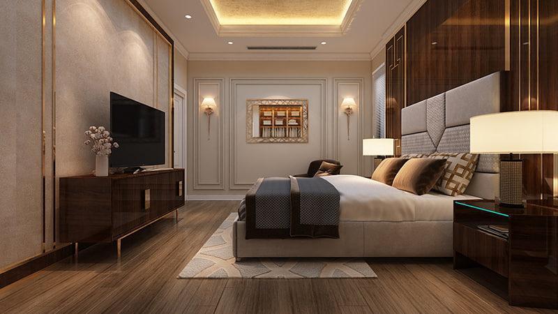 mẫu phòng ngủ tân cổ điển đẹp