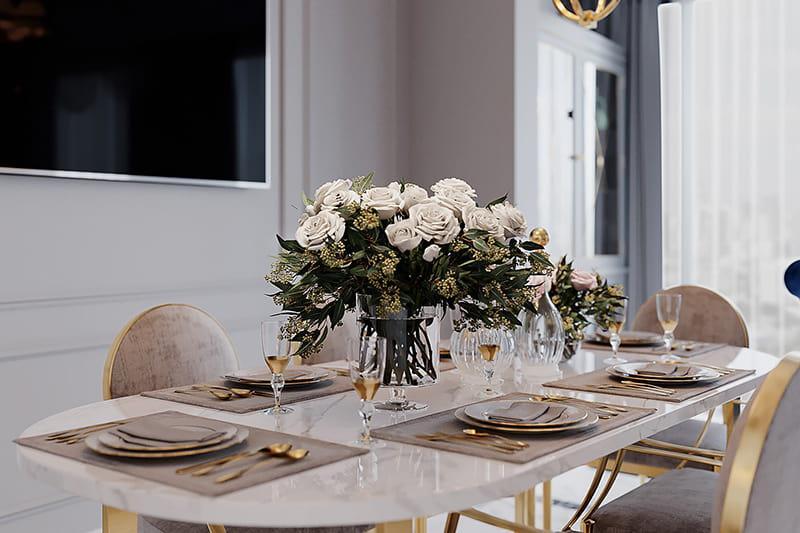 bộ bàn ăn trang trí đẳng cấp