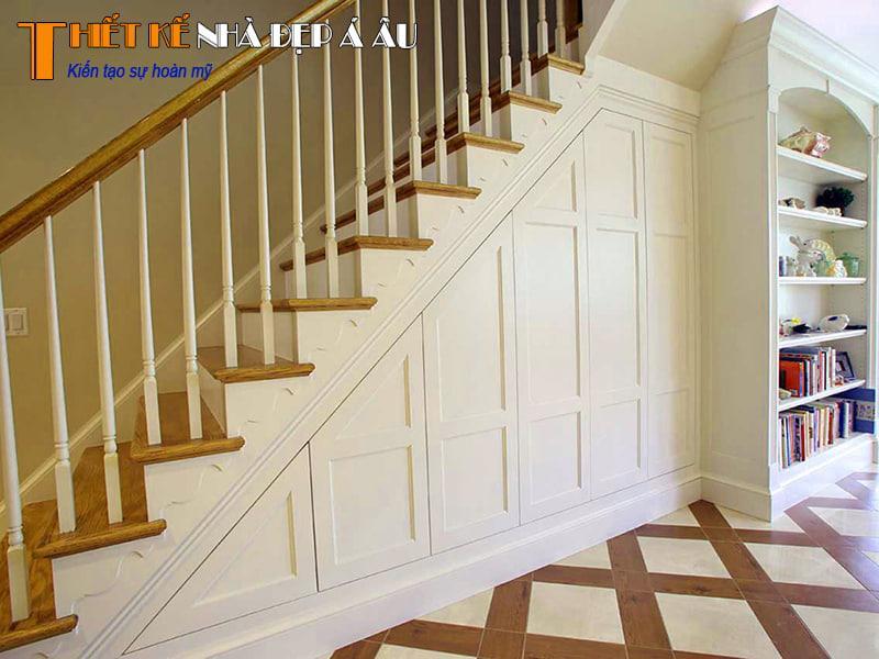 thiết kế nội thất dưới cầu thang