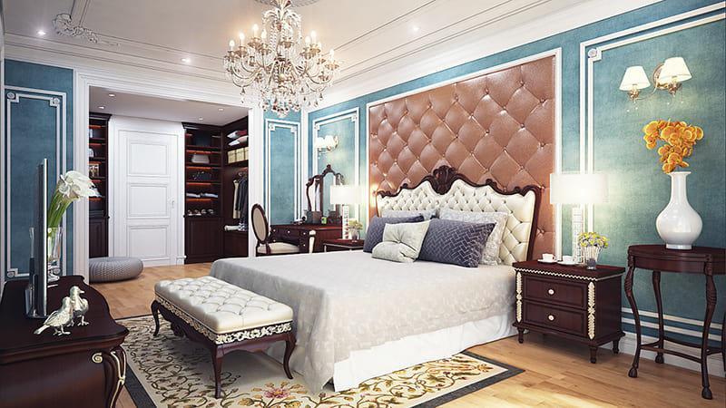 phòng ngủ thiết kế phong cách tân cổ điển