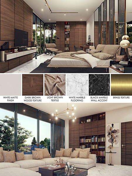 thiết kế nội thất biệt thự nhà vườn cao cấp