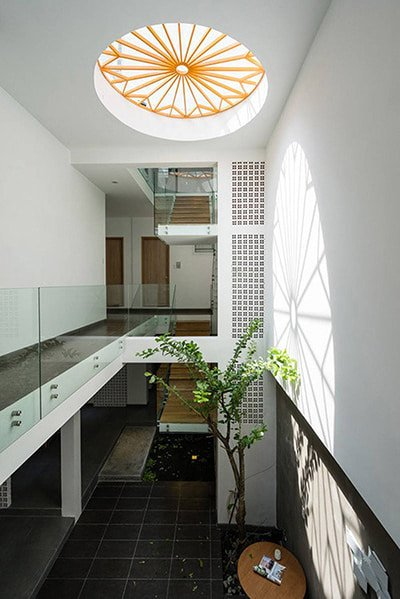 thiết kế giếng trời nhà phố