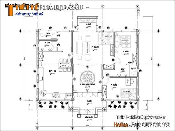 Chi tiết bản vẽ nội thất nhà cấp 4
