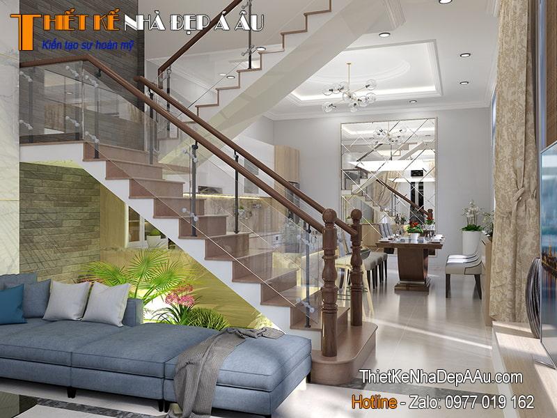 thiết kế cầu thang đẹp hiện đại