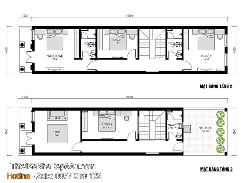 Chi tiết cách bố trí nội thất các tầng nhà phố hiện đại
