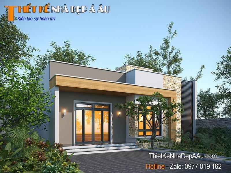 thiết kế nhà 1 tầng đẹp hiện đại
