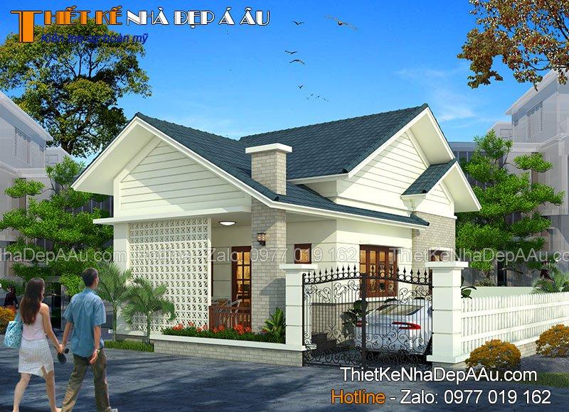 Thiết kế nhà 1 tầng 60m2