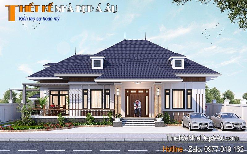 nhà đẹp bề thế xây dựng ở quê