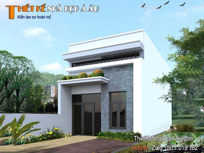 Thiết kế nhà đẹp mái bằng