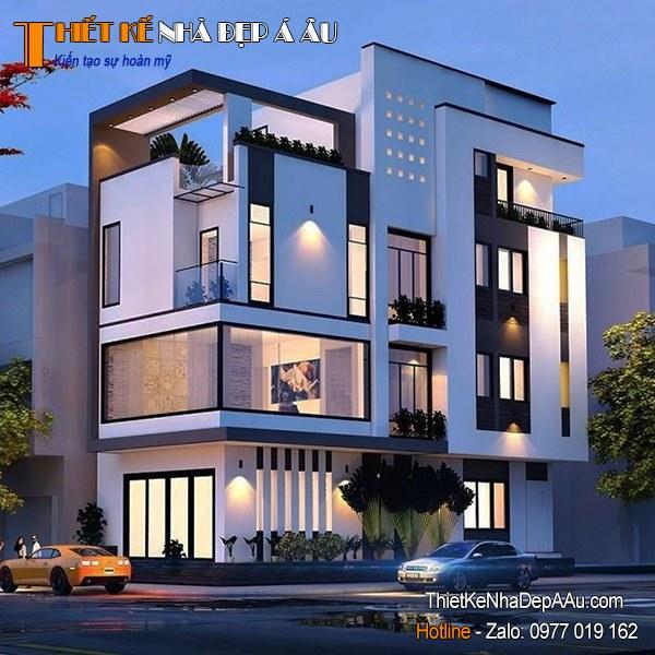 Bản vẽ kiến trúc nhà phố đẹp hiện đại
