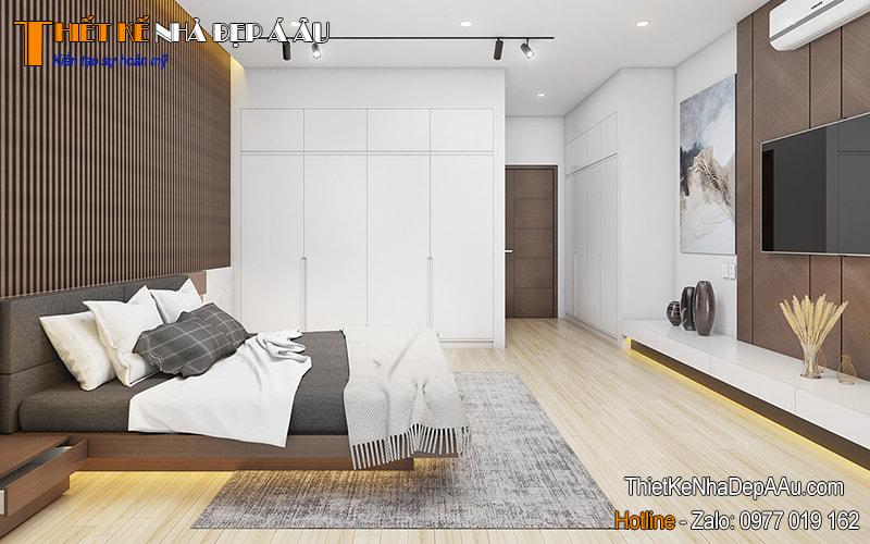 phòng ngủ không gian mở nhiều ánh sáng