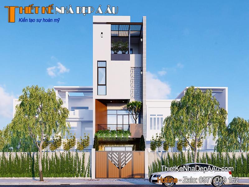 nhà phố hiện đại mặt tiền 4m