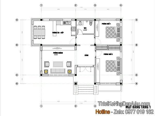 bản vẽ chi tiết nội thất nhà cấp 4 mái thái