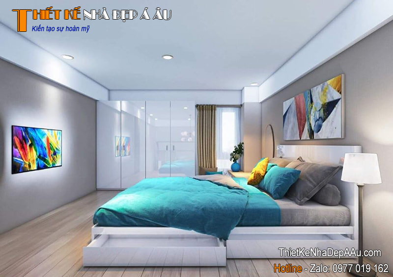 không gian phòng ngủ nhiều ánh sáng
