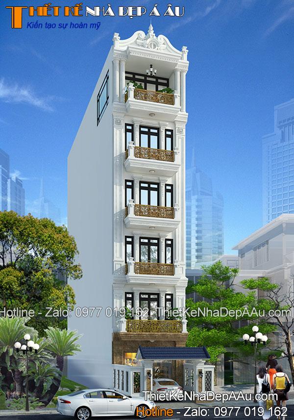 Công trình nhà phố 6 tầng hiện đại sang trọng