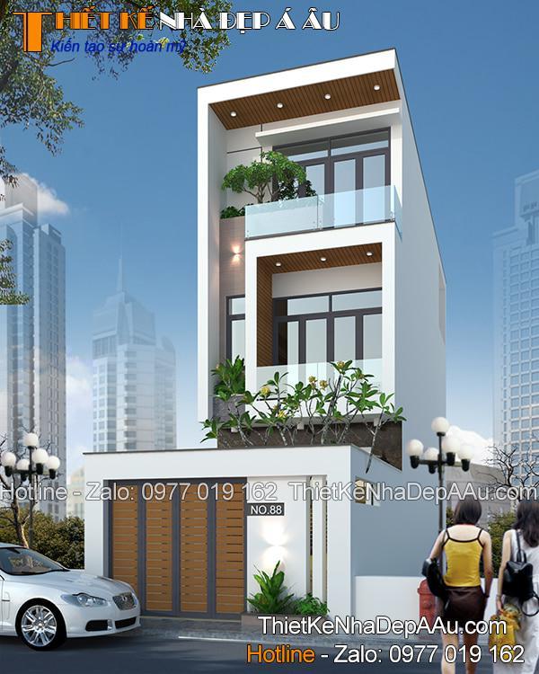 bản vẽ nhà phố 3 tầng 60m2 hiện đại