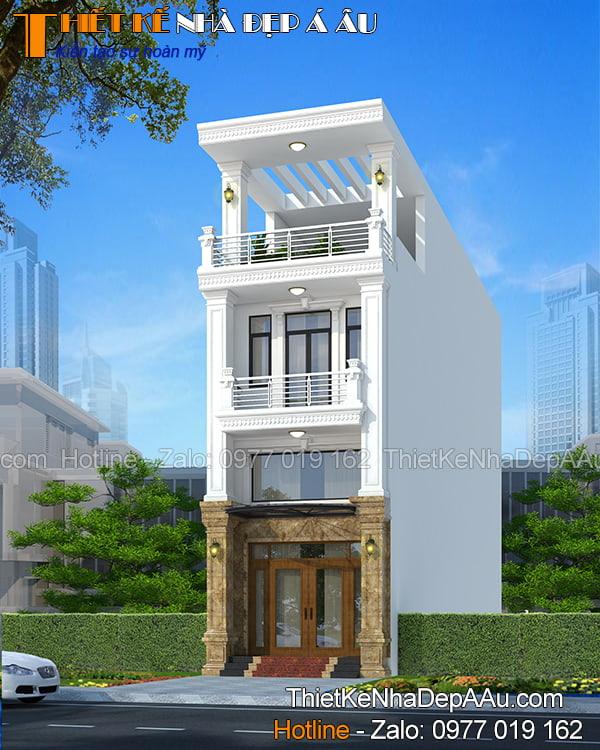 Bản vẽ nhà phố 3 tầng 1.3 tỷ