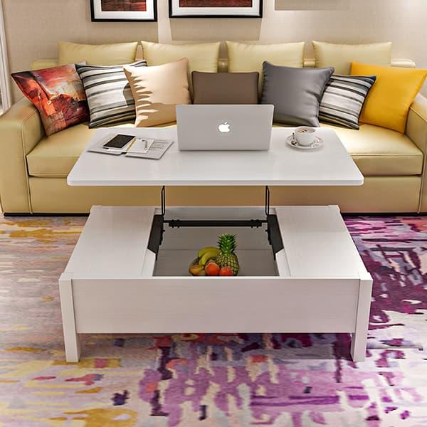 Bàn trà phòng khách thiết kế đa năng hiện đại