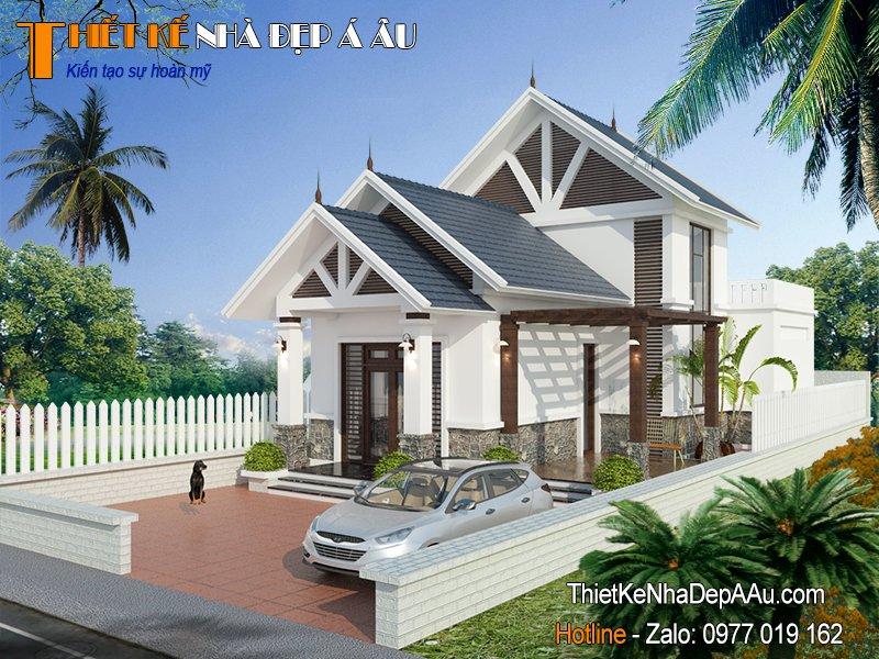 Ngôi nhà có tầng mái thêm không gian sử dụng và tăng độ thông thoáng